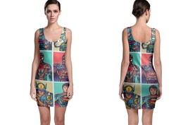 Caricaturas Of SuperHero 2019 Bodycon Dress - $22.99+