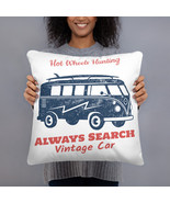 Hot Wheels Hunting Vintage Car - High Quality Pillow - $22.50+