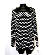 Maison Jules Polka Dot Pullover Sweater Black Combo Size XXL MyAFC - $31.49