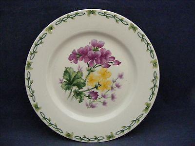"Thomson Floral Garden 7.5"" Salad Plate Purple & Yellow Flowers"
