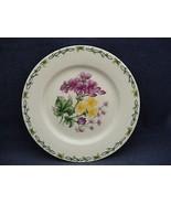 "Thomson Floral Garden 7.5"" Salad Plate Purple & Yellow Flowers - $9.95"