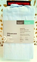Standard Made By Design Solid Easy Care Pillowcase Set Light Blue - new! image 1