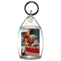 traditional british seaside punch and judy show keyring double sided  , keychain