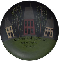 Wood Plate   G32152- As for Me and My House, We will serve the Lord   - $19.95