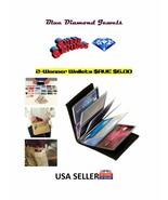 2-Wonder Wallets Slim RFID Leather Wallets As Seen on TV Black USA SELLE... - $13.30