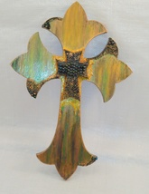 "Double stacked Cross ""Shimmering Hope"" Embellished by Deboriah - $25.00"