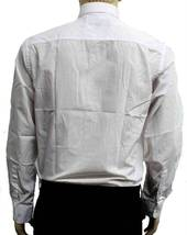 NEW DESIRE COLLECTION MEN CLASSIC LONG SLEEVE BUTTON UP CASUAL DRESS SHIRT WHITE image 5