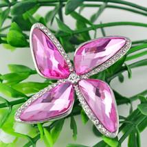 Ladies Crystal Windmill Shape Collar Brooch Pin Back Wedding Decor Birth... - $2.46