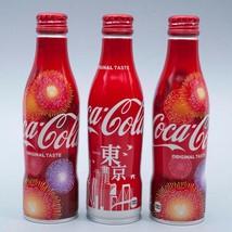 Tokyo & 2 Hanabi 2018 Coca Cola Aluminum Full bottle 3 250ml Japan Limited - $38.61