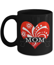 Mom Hearts For Mothers Day - 11 oz Classic Black Coffee Mug  - £13.07 GBP