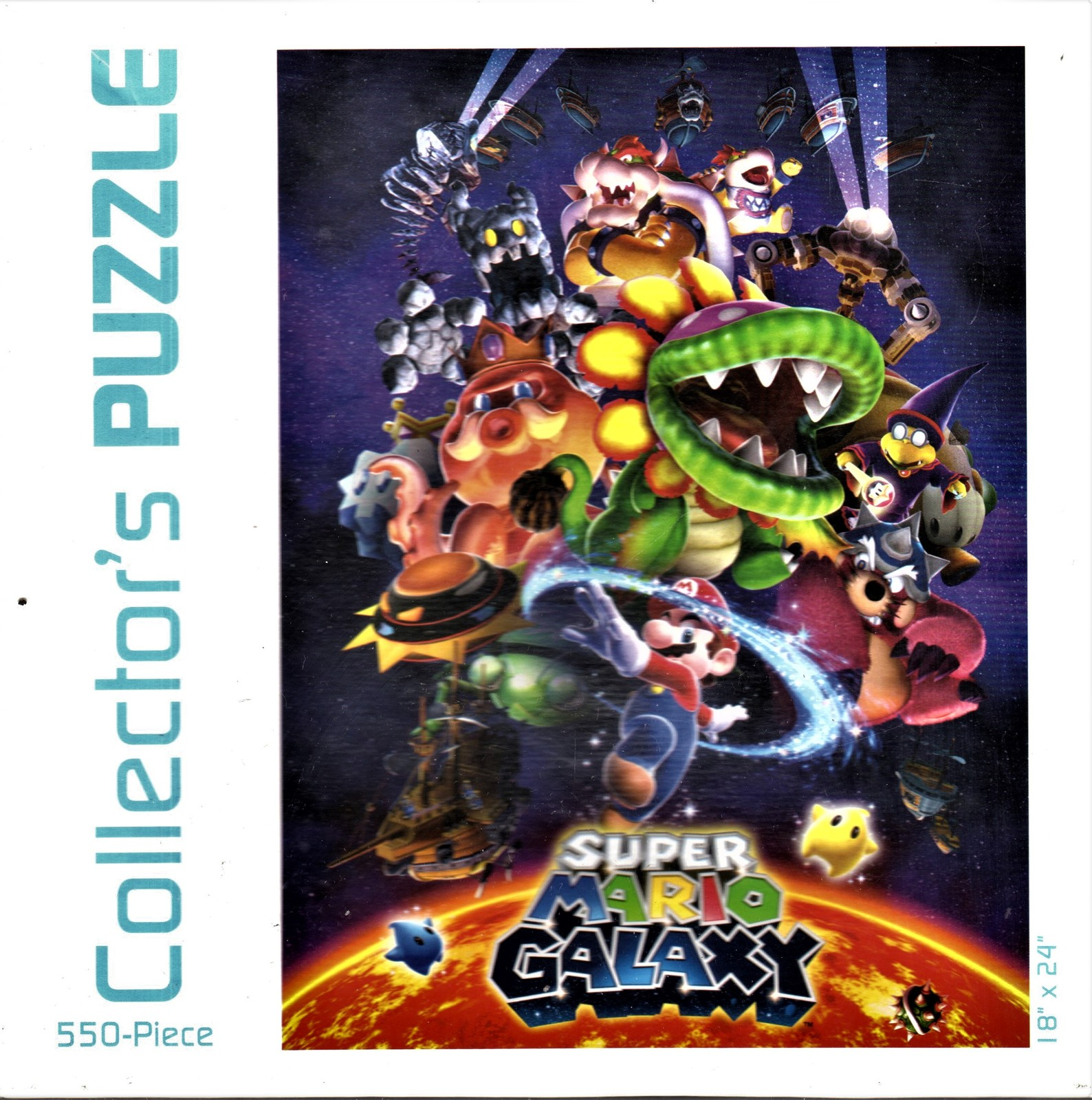 "Primary image for Super Mario Galaxy Puzzle. USAopoly. 550 Piece 18""x24"" Collectible"