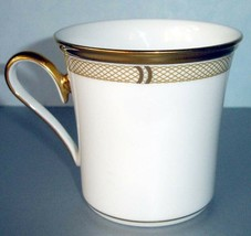 Lenox Eternal White Accent Coffee Mug Gold Lattice Band New - $49.90
