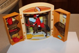 Playmobil horse stall stable with rider Figure Take along case accessories - $19.95