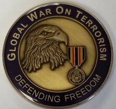 Global War On Terrorism Defending Freedom Us Army Usmc Usn Usaf Uscg Coin - $24.74