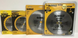 New Dewalt DW9053, DW9052, DW3326,  DW4712 Saw Blades Set - $53.45