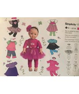 "Simplicity Sewing Pattern 1711 18"" Doll Clothes Tutu Dress Skirt Pant To... - $12.71"
