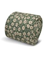 Frederick Thomas green and white floral men's 100% cotton tie - $18.37