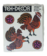 Decal Sticker Rooster Chicken Country Farm 4 Count Sheet Textured Easy U... - $14.69
