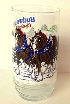 Budweiser Clydesdale Christmas Glass 1995 Official - $11.83