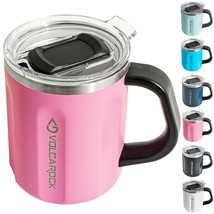 VOLCAROCK 16 oz Coffee Mug with Handle, 16oz Insulated Stainless Steel R... - $34.99+