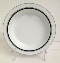 """Dansk Bistro Christianhavn Blue Rim Soup Cereal Bowl 8-1/8"""" Porcelain Thailand - $9.89"""