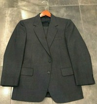 Men's Grey Witty Brothers Suit Two Buttons Single Vent With Flat Front P... - $39.95