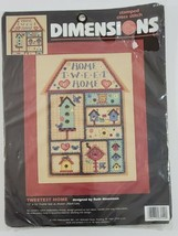 "DIMENSIONS Counted Cross Stitch Tweetest Home Tweet 3154 Stamped 12x16""  - $24.49"