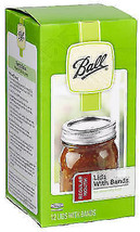 Ball, 12 Pack Regular Jar Cap, Canning Bands & Lids - $9.79