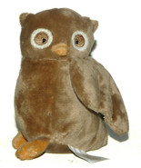Small Walmart Plush Tan Brown Owl Baby Jingle Bell Chime Rattle - $18.69