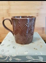 2009 Starbucks Brown Fan Coffee Mug By Design House Stockholm  - $9.41