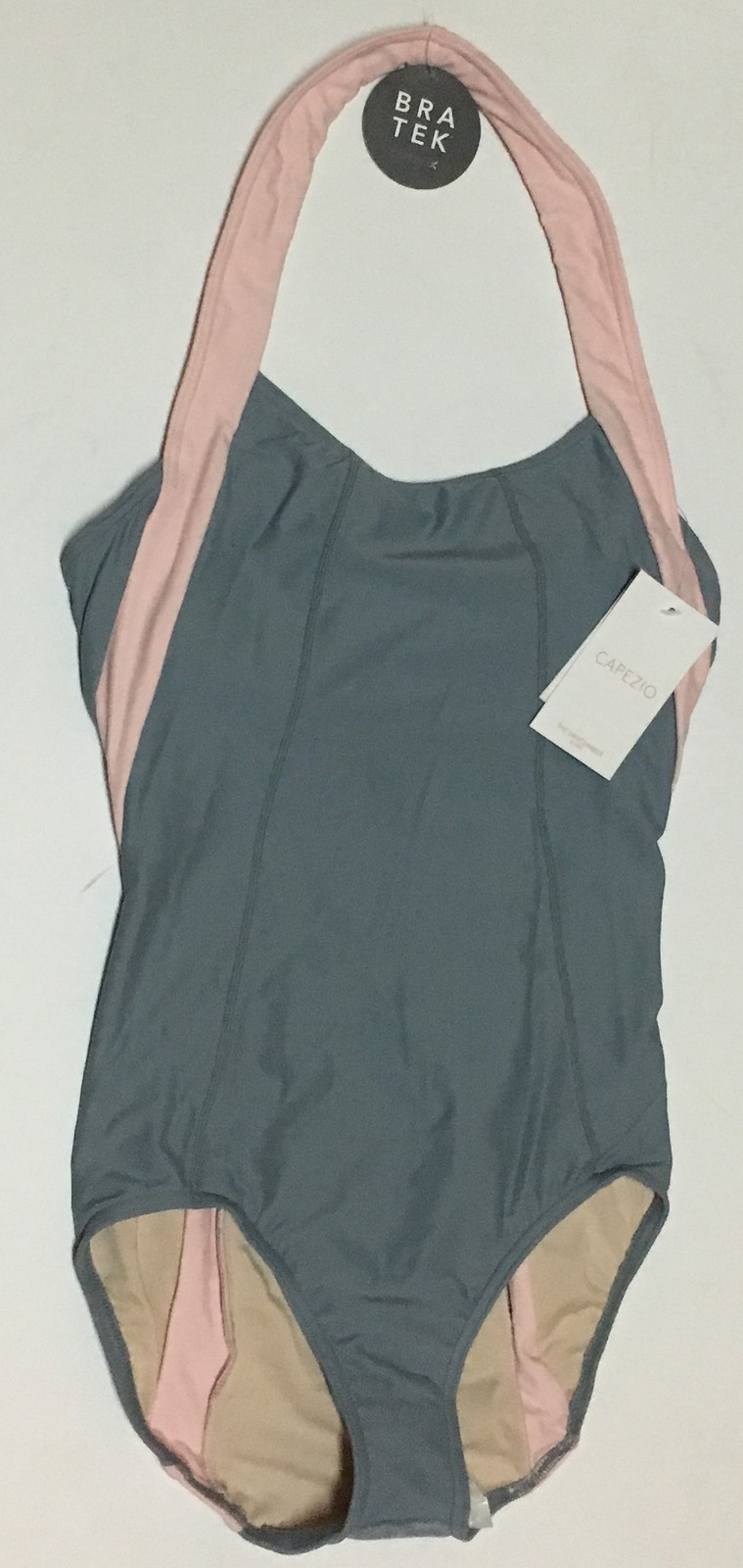 Capezio Bra Tek Dancewear Leotard Various Sizes Gray & Pink NWT