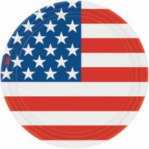 Stars & Stripes Dinner Plates (10) - Patriotic Party Supplies - $3.86