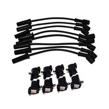 """Chevrolet GMC GM LS LSX LS1 LS2 LS3 LS6 8 Coils & 11"""" 8mm Spark Plug Wires D585"""