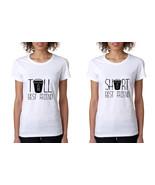 Set Of 2 Women's T Shirt Tall Short Best Friend Matching BFF - $20.94