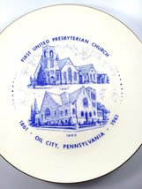 Vintage First United Presbytarian Church Oil City, PA Commemorative Plat... - $10.00
