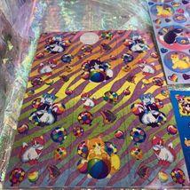 4 Sheets NotFull Lisa Frank Kitties  Fishbowl Balloon Playtime Sunflower Zebra image 4