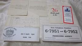 7 Pc lot INSURANCE AGENCY ADVERTISING BLOTTERS RECEIPT BOOK ANTIQUE 1869... - $7.99