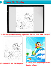 New HUION A4 LED Light Box UltraThin Drawing Tracing Sketch Table Board - $69.40