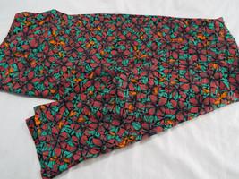 Womens LuLaRoe TC Tall and Curvy Leggings Green Red Flowers Orange Black NEW image 1