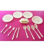 Vintage Barbie Doll House Size Dishes Plastic Made In Hong Kong  185-14 - $6.50