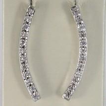 Silber Ohrringe 925 Rhodiniert mit Hörmuschel Hardcover Zirkonia Kubische Weiß image 1