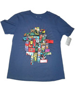 Disney Store Marvel Men's Blue Avengers T-Shirt - $10.17
