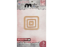 Spellbinders Media MiXage Squares One Dies, 3 Pack #MD1-002