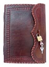 QualityArt Hnadmade Leather Journal Notebook Real Lock Key Diary Travel ... - $36.92