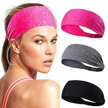 Campsis Yoga Headbands Black Running Sweatband Strecthy Sport Hair Bands Athleti