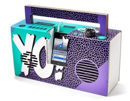 Axel Pfaender Berlin Yo! MTV Raps Boombox Mobile Speaker For MP3 Smartphones NIB