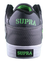 Supra Men's Vaider Low Fade Grey/White Nylon Skateboard Shoes Sneaker S36042 NIB image 2