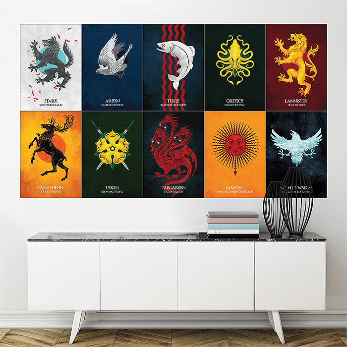 Primary image for Wall Poster Art Giant Picture Print Game of Thrones House Sigils 1723PB