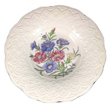 Vintage Wedgwood Bone China Soup Bowl, Dianthus Pattern - $29.99