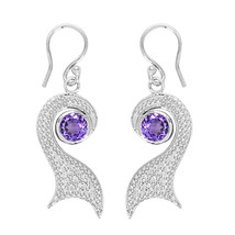 Unique Design Handmade Fashion Peacock Jewel Natural Amethyst 925 Silver... - $15.60